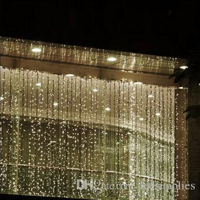 4M4M 512 LED Indoor Outdoor Curtain String Light Christmas Xmas Fairy Wedding Party Decoration Supplies 220v 110v US AU EU UK Plug Led Lights