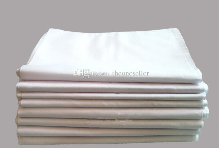 Pure White платки 100% хлопок Платки Женщина Мужчины 41см * 41см Платок Wedding Plain DIY Print Draw платочек