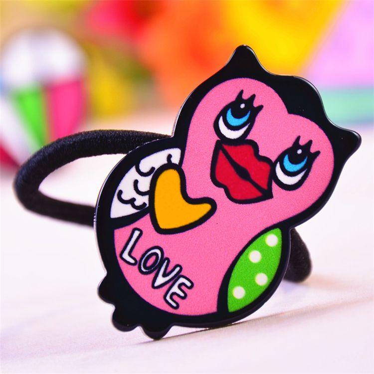 Venta caliente nueva personalidad de la moda graffiti labios encanta el amor de un abrir y cerrar de ojos de dibujos animados accesorios de cola de milano Accesorios Hair Bnds B0534