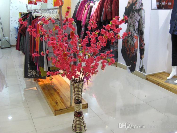 Chaud Selling Garden Decoration Décoration De Mariage Décorations de mariage Naturel Grand Tissu artificiel Cherry Blossom Fleurs de soie Partie 5 Couleur