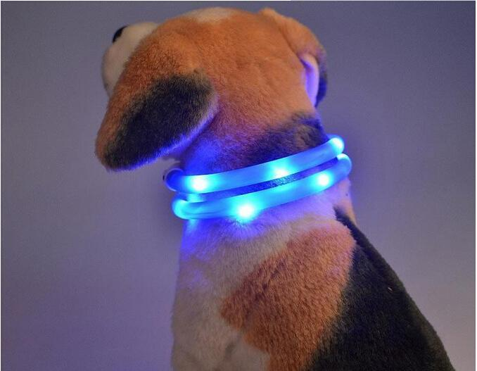 Cheap Común USB Charger Pet Dog Collars Mejores Collares Collares básicos USB Pet Collares ligeros Adjustable LED intermitente collar de perro