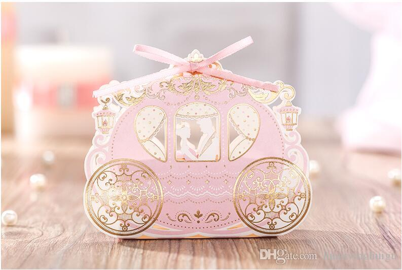 romantic European style Hollow out pink Wedding box Candy Box gift box wedding bonbonniere wedding favour boxes TH220