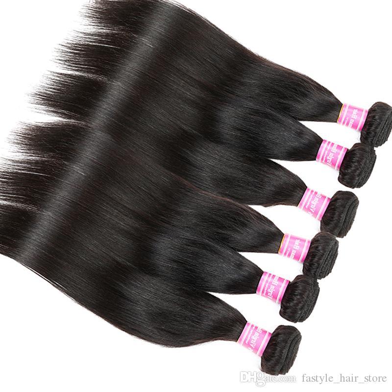 Diritta brasiliana diritta, estensione vergine dei capelli umani dell'onda del corpo 10/20/30/50 dei fasci trama non tessuta 100% non trattata del tessuto dei capelli di 8A