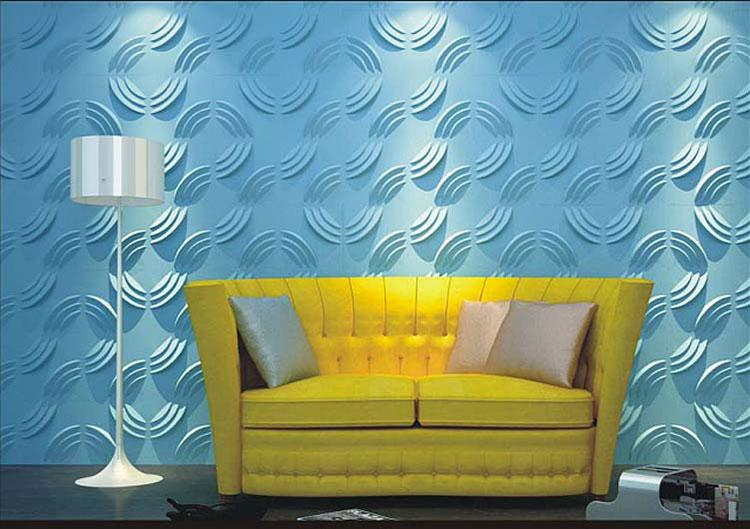 Hot Sale 3D PVC Wall Panel for Bedroom Waterproof Europe Art Wall Stickers for Background 3d New Embossed Solid Wallpaper 30*30cm Home Decor