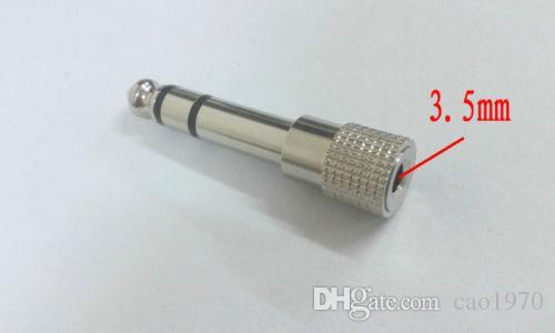 100 unids metal Audio 6.35mm macho Plug a 3,5 mm hembra Jack Aux adaptador estéreo TRS