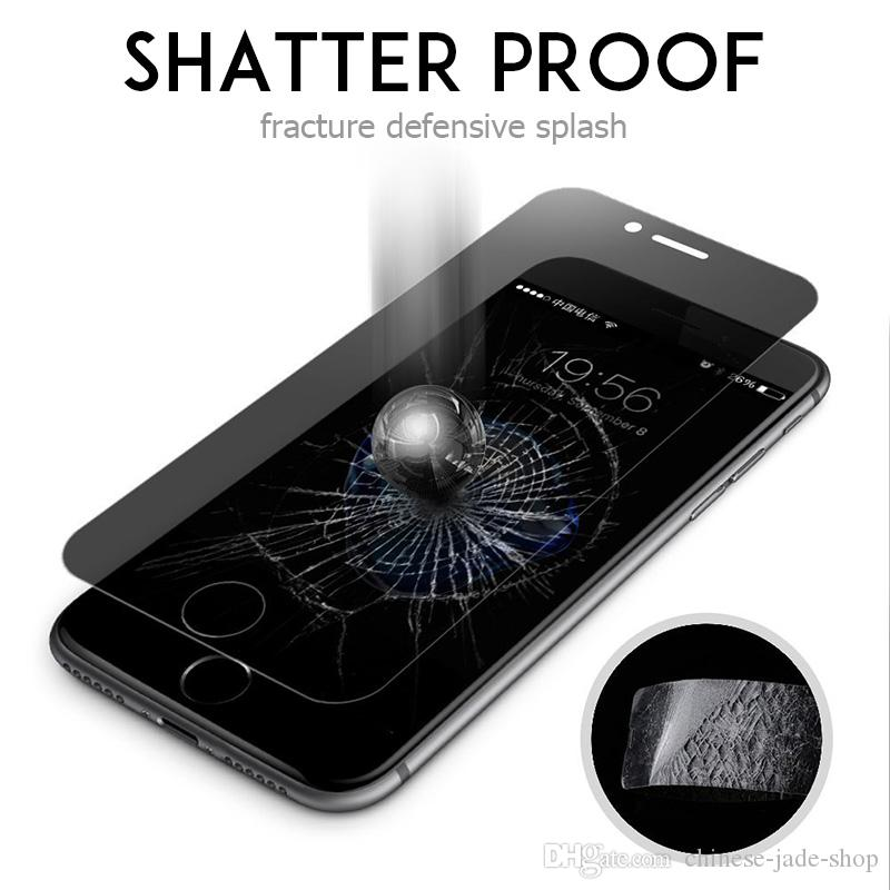 For iphone XS XR XS MAX 6 7 8 6 plus 7 plus 8P 5 5S SE 9H Privacy tempered glass Anti-spy screen protector Simple opp
