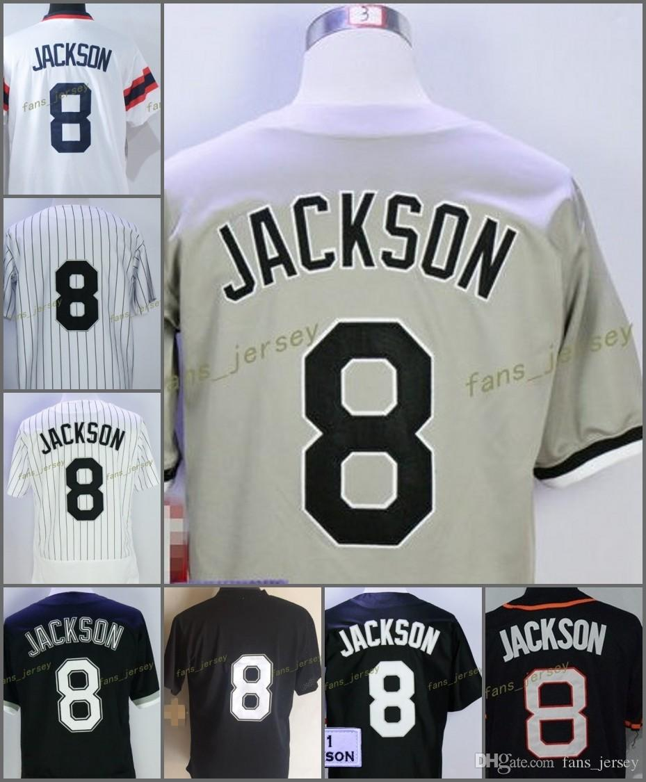 2447a7bf9a4 2017 Flexbase Chicago White  8 Bo Jackson Baseball Jersey White Black Grey  Cool Base Stitched Jerseys Baseball Jerseys Online with  21.5 Piece on ...