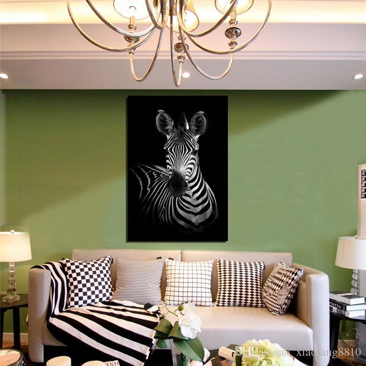 Moderne Gedruckt Zebra Leinwand Malerei Cuadros Bild Tier Landschaft Ölgemälde Für Wohnzimmer Handwerk Hause Dekorative Kein Rahmen