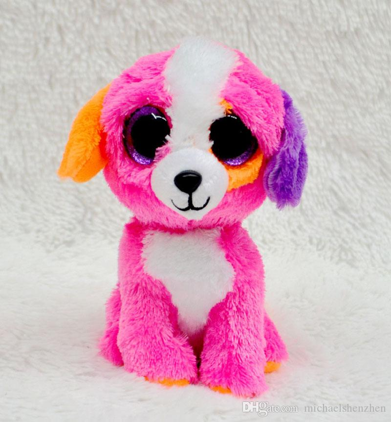 25 Design Ty Beanie Boos Plush Stuffed Toys 17cm Wholesale Big Eyes Animals Soft Dolls for baby Birthday Gifts ty toys B001