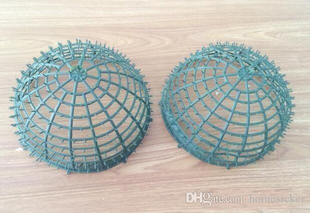 embrasser balle diamètre de cadre de balle plactic de 20 cm, bonne décoration de fête de bricolage boule de fleurs livraison gratuite