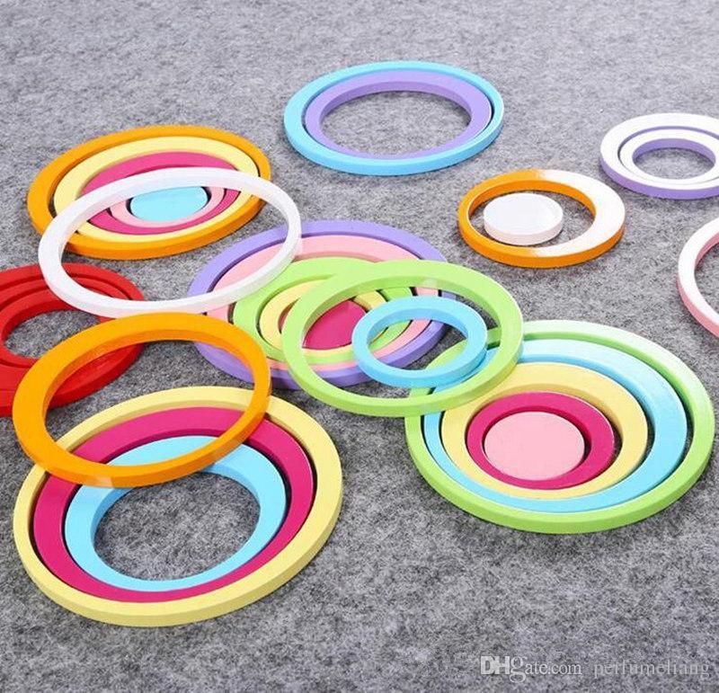 Mode Hot 100 Satz farbe Innen bad dekoration Kreise Kreative Stereo Abnehmbare 3D DIY Wandaufkleber JF-273