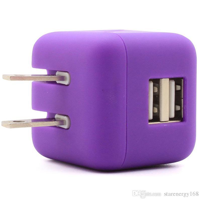 Evrensel Büyük Tip Katlanabilir Katlanır ABD Tak Çift USB Duvar Şarj Ev AC Güç Adaptörü iphone 6G 6 Artı iPad Samsung S6 Şarj W-SC