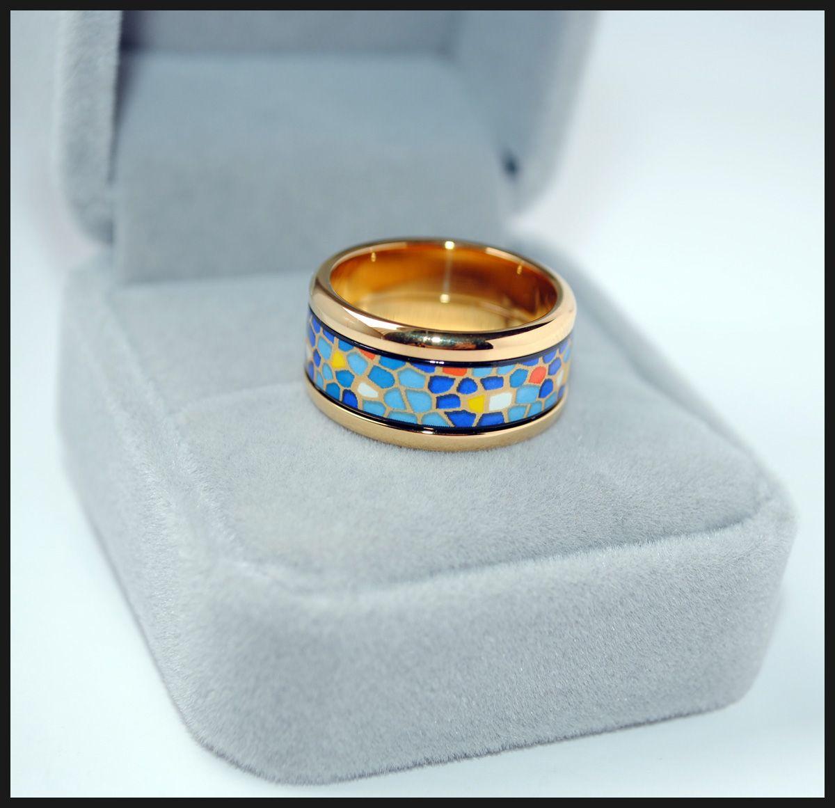 Pieces Series rings 18K anillos de esmalte dorado Anillo de calidad superior para mujer anillos de banda para regalo