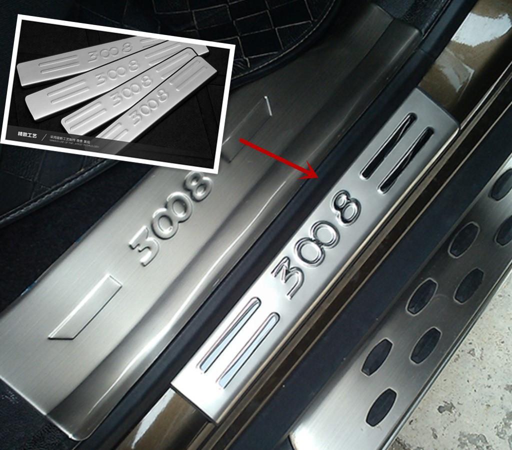 2017 2008 2009 2010 2014 peugeot 3008 stainless steel door sill
