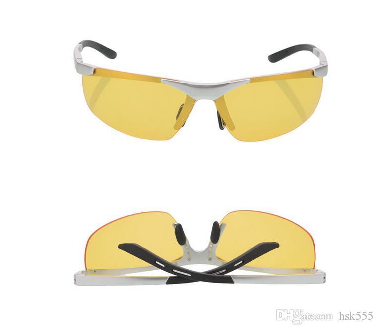 Aluminum magnesium polarized goggles glasses anti glare glasses driving beam