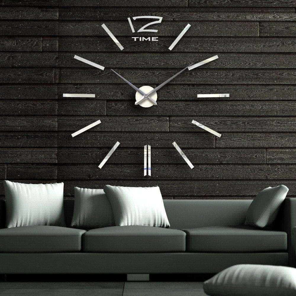 3d Mirror 40 Inch Modern Wall Clock Room Home Decor Diy