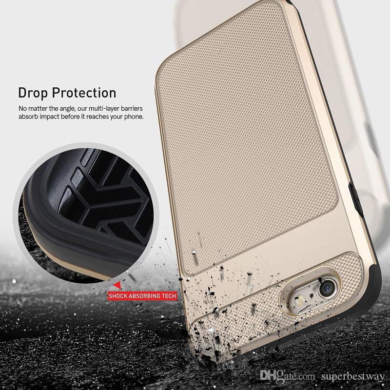 iPhone 6S 7 7plus s7 s7edg Case Caseology [Vault Series] Design sottile Rugged Cover protettiva armatura Samsung S5 S6 S6Edge Plus DHL SCA140