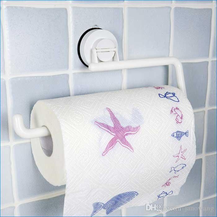 Kitchen Plastic Paper Towel Holder,Sucker Paper Towel Roll Holder,Without  Drilling Paper Roll Holder,J15373 Kitchen Paper Holder Plastic Paper Towel  Holder ...