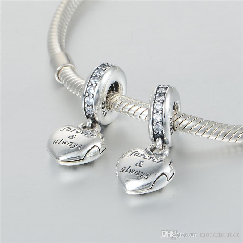 Esposa encantos Família e amigos S925 Sterling Silver encaixes para o estilo original da marca Charme Pulseiras 791524cz H9