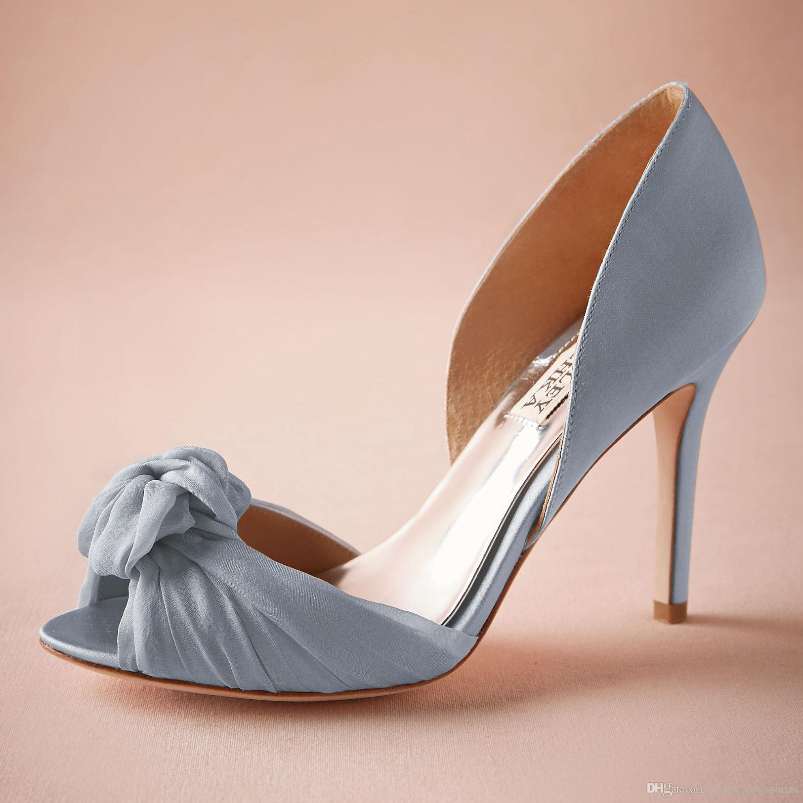 Blue Satin Wedding Shoes 3.5 Satin Wrapped Heel Sandal Tulle Twist Details  Women Sandal Glamour Two Piece Pump High Heels Made To Order Cream Wedding  Shoes ...