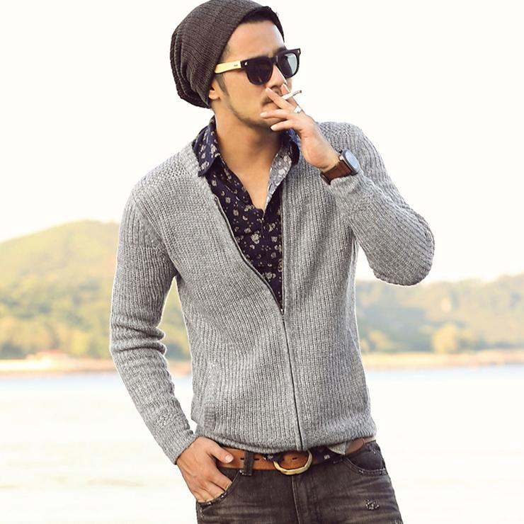 2016 hot sale famouse brand new men's sweaters Cotton fashion casual zipper Cardigans coat good quality pull homme NEW ARRIVAL