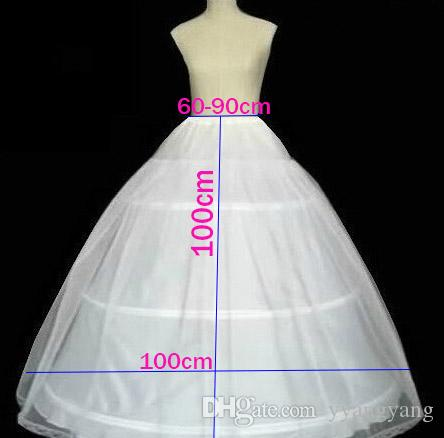 Cheap Wholesale 100cm Diameter 3 Hoop 1 Tulle Wedding Bridal Gown ...