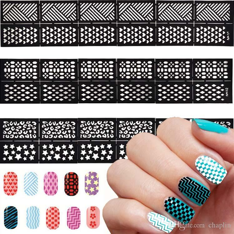 Easy Reusable Stamping Tool Diy Hollowed Out Work Nail Art Template ...