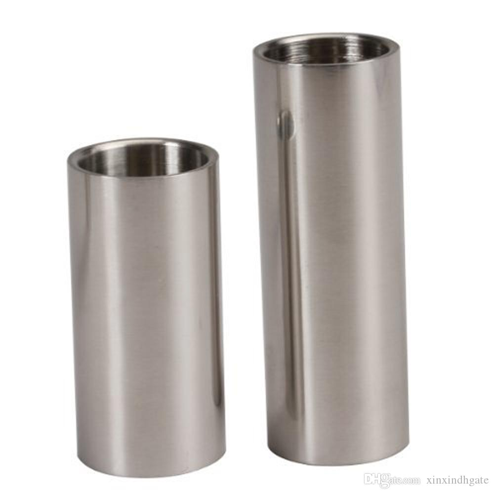 Stainless Steel Cylinder Tubes Guitar Slides Set Silver Pleated