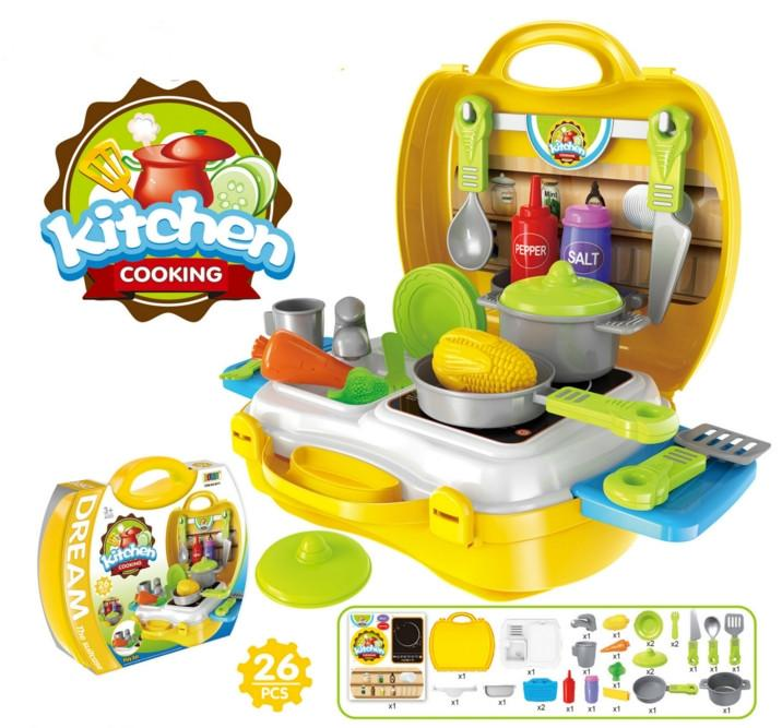 25Design Children Pretend Play toys kitchen cooking tableware dresser cash register tool doctor suitcase toy Christmas Gifts for children