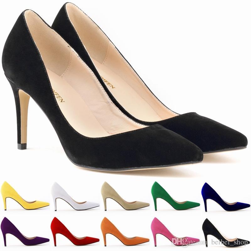 mid high heels