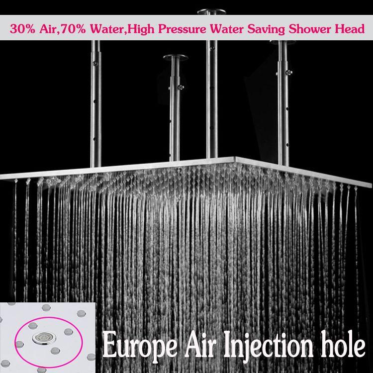 high pressure water saving shower italian shower faucets 600600mm ceiling mounted big rain shower head hm zy0024 1 from jmhm dhgatecom