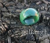 Natural blue green white three color agate Manual sculpture agate ring 18 to 20 mm