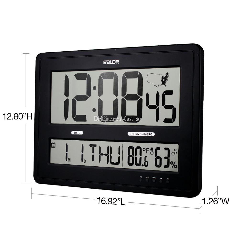 Baldr Jumbo Digital Wall Clocks With Big Time Display Time Zone Map