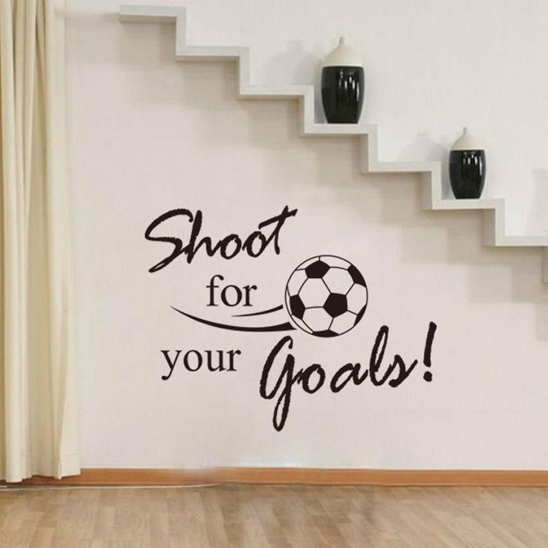 Merveilleux Shoot For Your Goals Soccer Wall Decals Vinyl Removable Art Wall Sticker  Living Room Home Decor Clings For Walls Cloud Wall Decals From Lin100, ...