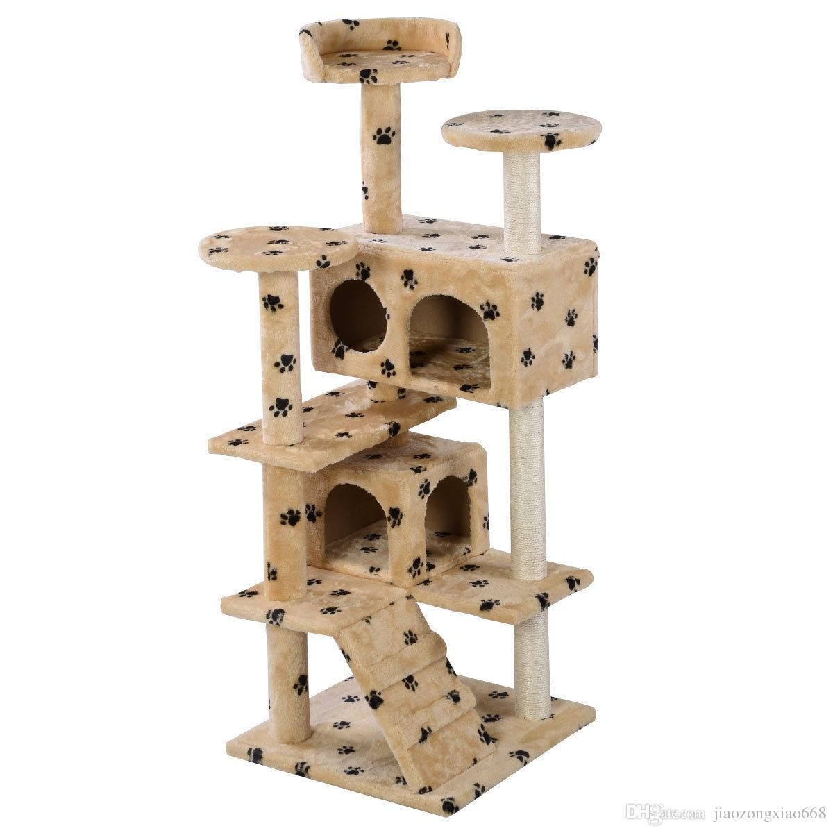 New Cat Tree Tower Condo Furniture Scratch Post Kitty Pet House Play Beige  Paws Cat Tree Tower Online With $60.11/Piece On Jiaozongxiao668u0027s Store    DHgate. ...