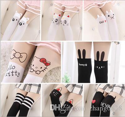 a07eb5e7baf Hot Selling Children Baby Kids Girls Tights Cute Pantyhose Knee Lovely  Tattoo Tights Cute Cartoon Pantyhose Girls Velvet Stocking Toe Socks For  Kids Socks ...