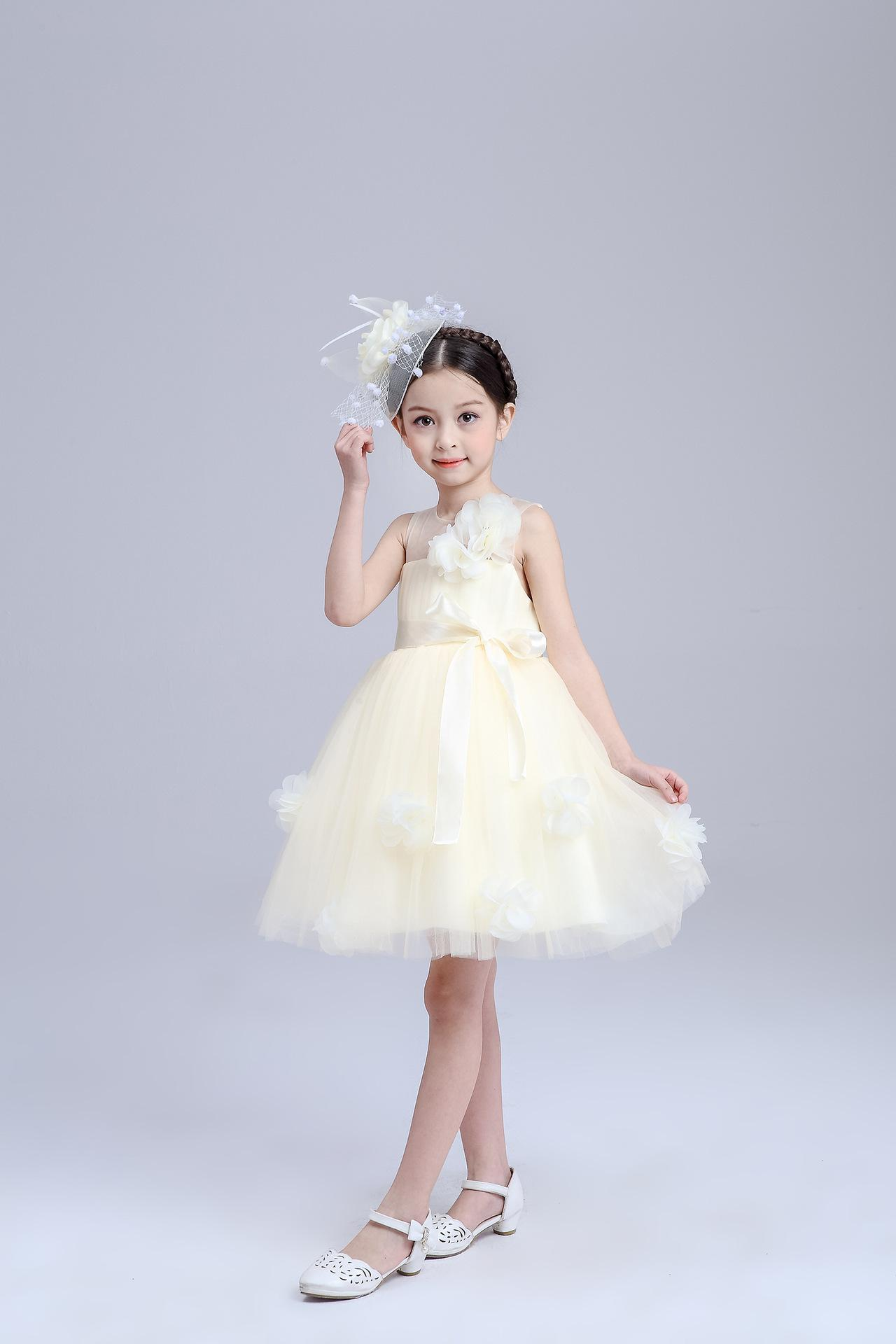 8b0383385a6a Childrens Girls Cute Dresses Child Clothes Baby Summer Dress Kids Wear  Casual Dresses Fashion Princess Dress Children Clothing Lace Dresses Wind  Organza ...