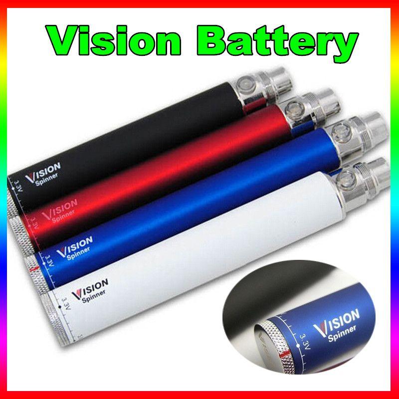 Hot Vision I 1 battery electronic cigarette ego c twist 3.3-4.8V Variable Voltage VV battery 650 900 1100 1300 mAh for e cig ego atomizer
