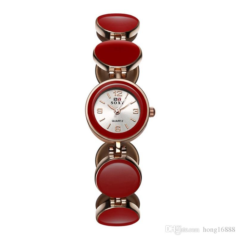 Bracelet Watch SOXY Brand Fashion Fine New Style Thermal models female Korean version of the creative watches ladies diamond bracelet Watch