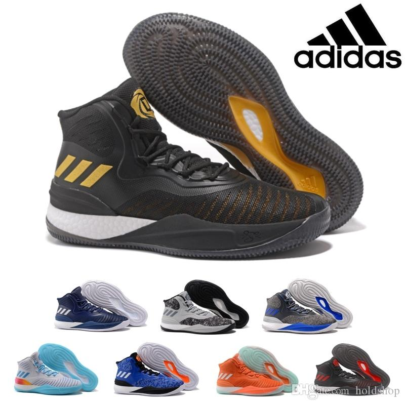 2017 Adidas Originals D Rose 8.0 Basketball Shoes Caliga Cushioning Wear  Resistance Competition Boost CQ1618 Athletics Discount Sneakers Basketball  Shoes ...