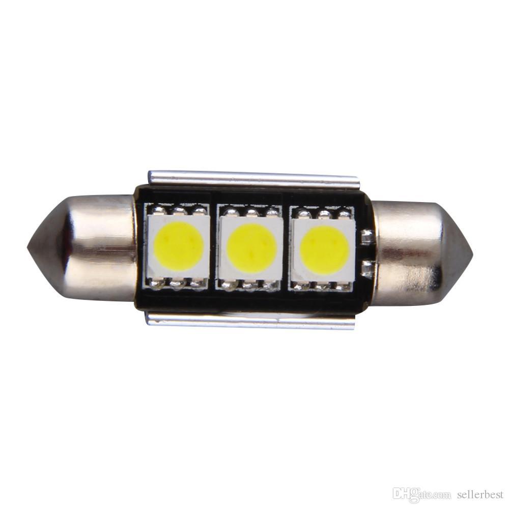 Радиатор Super Bright 36MM 3SMD 5050 SMD C5W Интерьер гирлянды для автомобилей Светодиоды Гирлянда Купол Лампочка Лампы для чтения