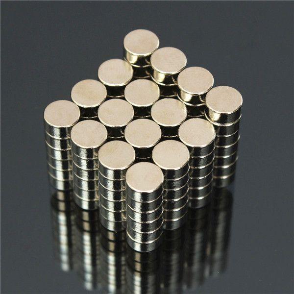 Magneti 100x N50 Super Strong Disc Magneti al neodimio a terre rare da 6 mm x 3 mm