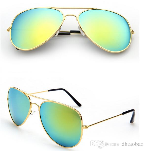 MOQ=summer woman color film sunglasses Metal sun glasses Dazzle colour goggle ladies outdoor fashion unisex adumbral