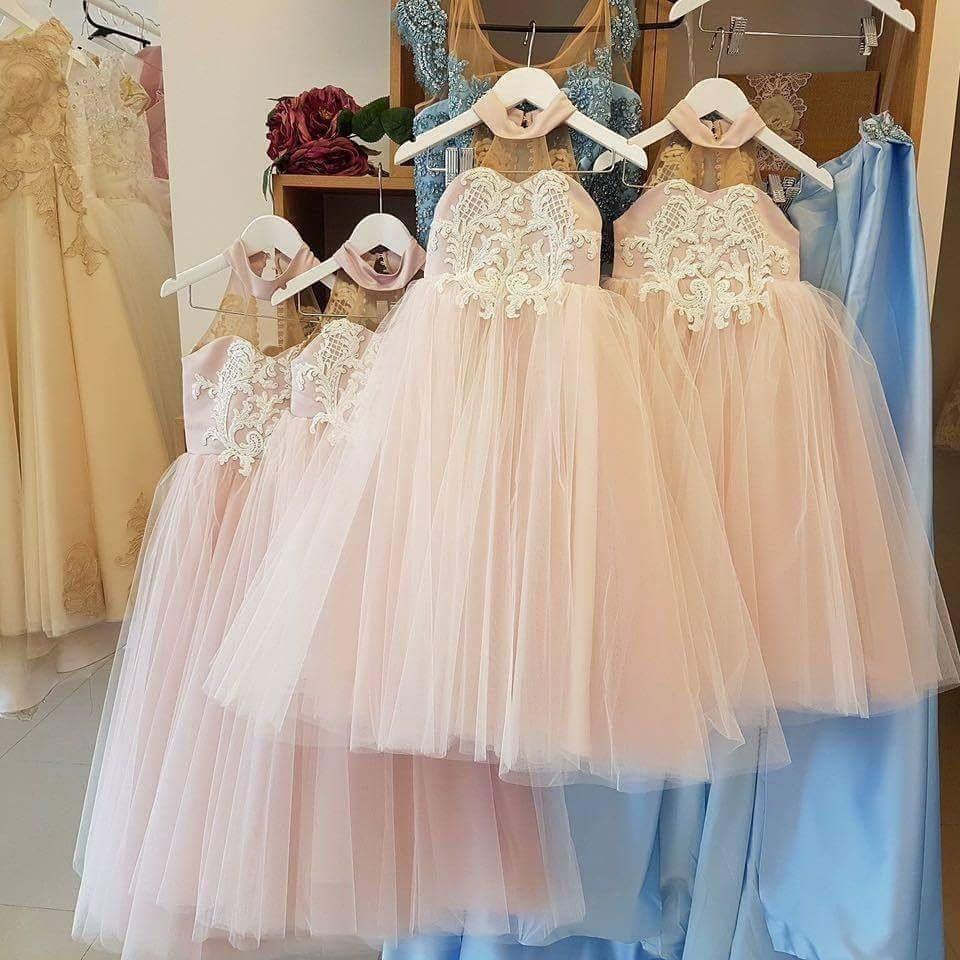Großhandel Neue 2018 Hellrosa Princess High Neck Lace ...