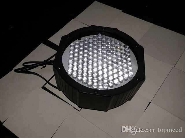 Dhl شحن مجاني سوبر مشرق عالية الطاقة عالية الجودة 127 LED DMX512 الصمام مصباح RGB الاسمية ضوء LED شقة دي جي معدات تحكم 5050