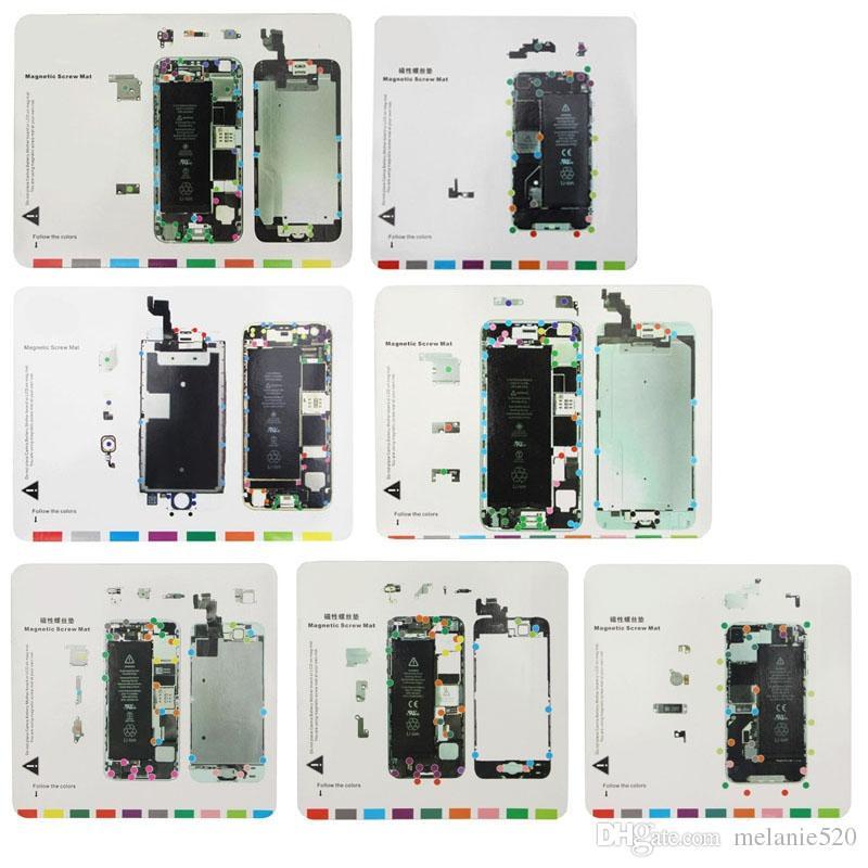 Parafuso magnético profissional trabalho mat para lcd screen abrindo ferramentas de reparo trabalho pad para iphone 4 4s 5 5s 5c 6 6 plus 6 s 6 splus