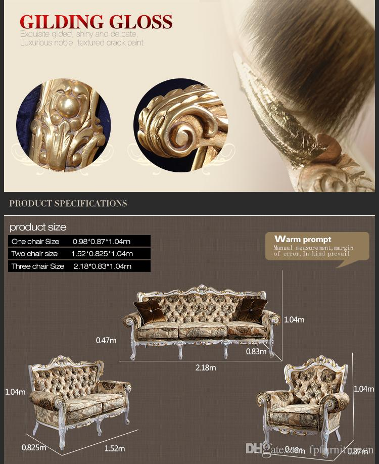 Set di divani classici in stile rococò - Set di divani classici in stile europeo. Divano classico in stile europeo