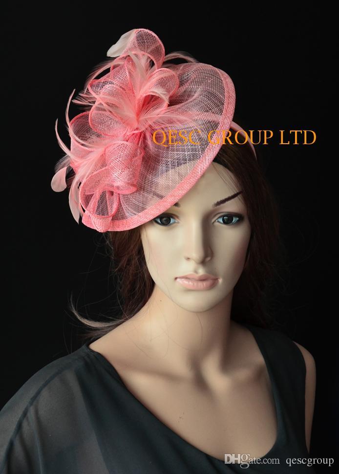 390070cb52309 Pink Flamingo Sinamay Fascinator Hat For Ascot Races