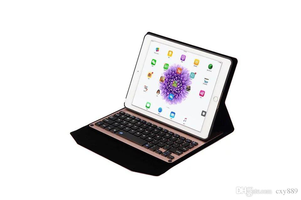 """For ipad pro 9.7 inch Ultra-Slim Aluminum Bluetooth Keyboard PU Leather plastic stand Case Cover for iPad Pro 9.7"""""""