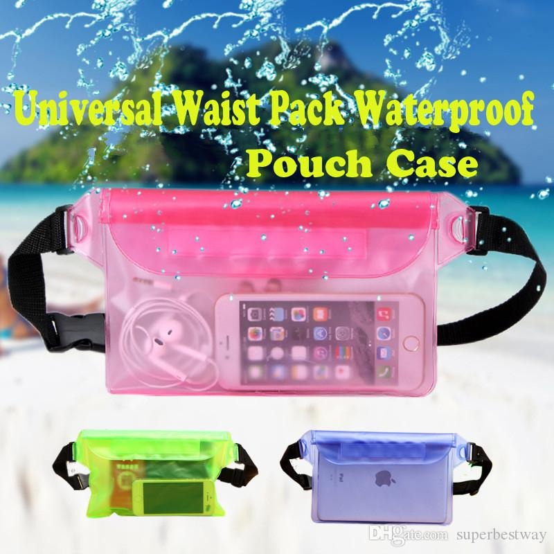 For Universal Waist Pack Waterproof Pouch Case Water Proof Bag Underwater Dry Pocket Cover For Cellphone Mobile Phones Samsung LG SCA160